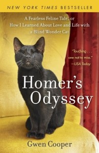 Homer's Odyssey Gwen Cooper and Homer the blind wonder cat at Shadow Cats in Round Rock Texas
