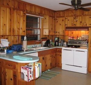 Vintage-Knotty-Pine-Kitchen-Cabinets