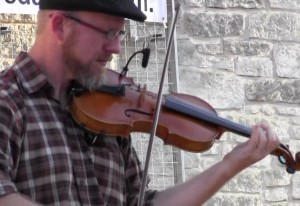 Fiddle Player The Sieker Band Music on Main Street Round Rock Your Local Color.Com