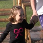 A Happy Little Girl at Round Rock's Muddy MIler Family Adventure